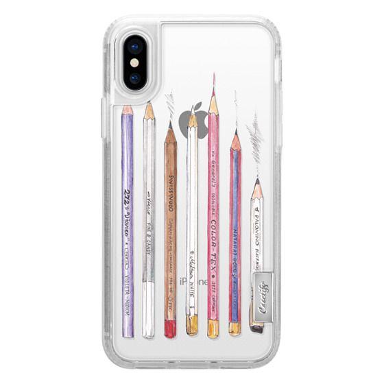 iPhone X Cases - PENCILS TRANSPARENT