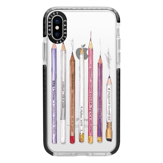 iPhone X Cases - PENCILS TRANSPARENT