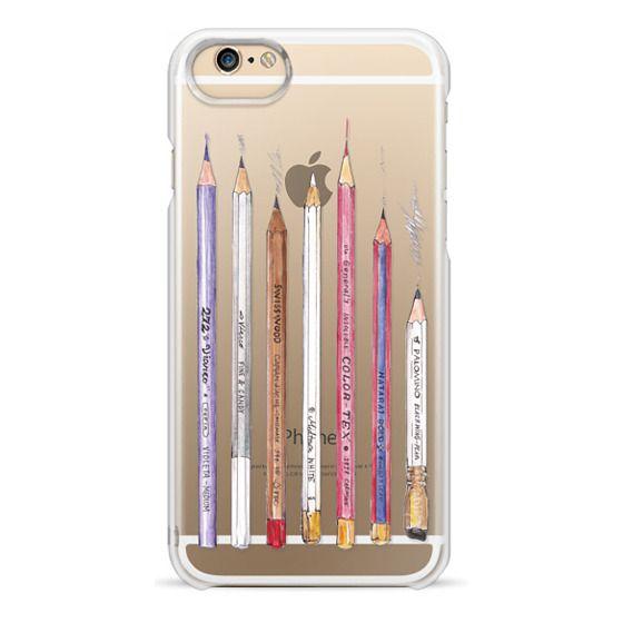 iPhone 6 Cases - PENCILS TRANSPARENT