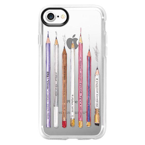iPhone 4 Cases - PENCILS TRANSPARENT
