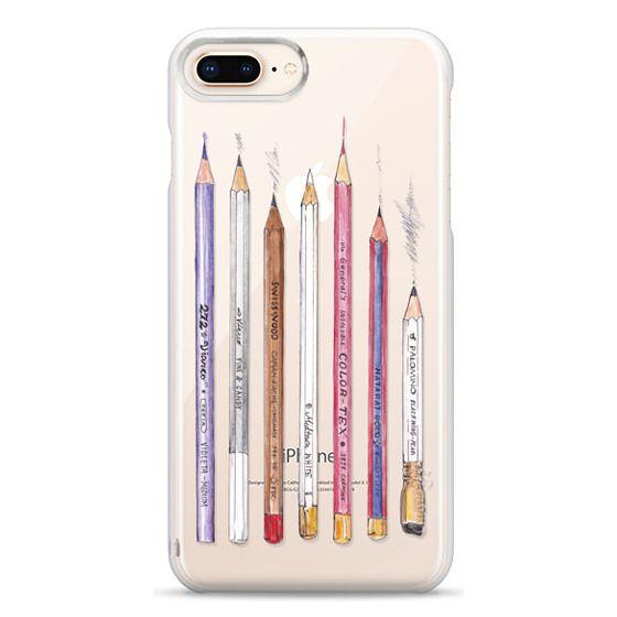 iPhone 8 Plus Cases - PENCILS TRANSPARENT
