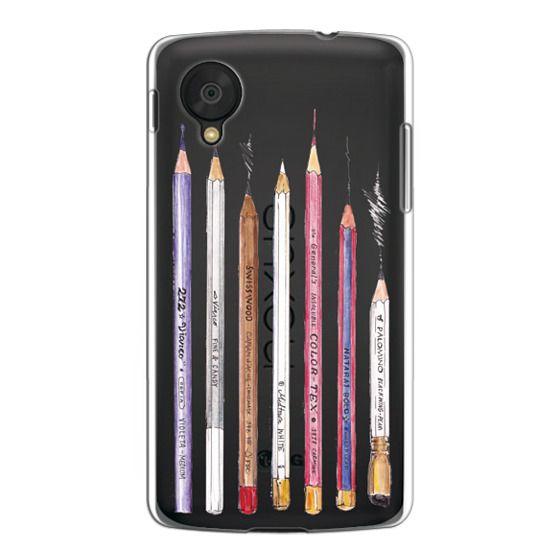 Nexus 5 Cases - PENCILS TRANSPARENT