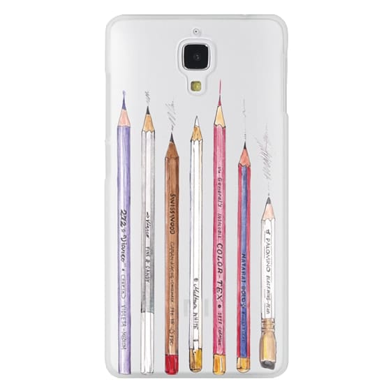 Xiaomi 4 Cases - PENCILS TRANSPARENT