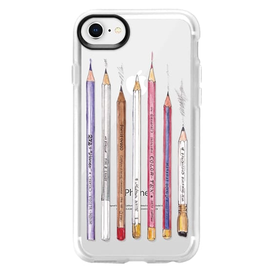 iPhone 8 Cases - PENCILS TRANSPARENT