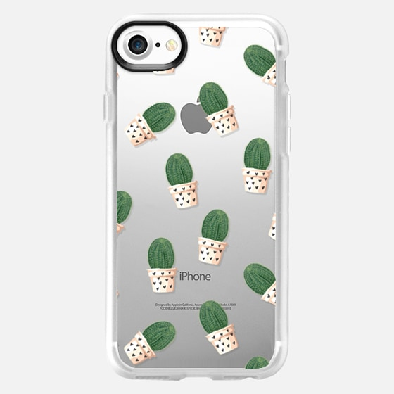Cacti and Hearts - Transparent - Wallet Case