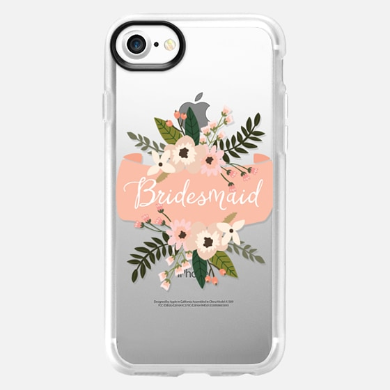 Bridesmaid Floral Banner - Wallet Case