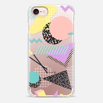 iPhone 7 Case Pastel Geometric Memphis Pattern