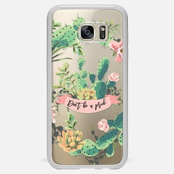 Samsung Galaxy S7 Edge ケース Cactus Garden - Don't Be A Prick