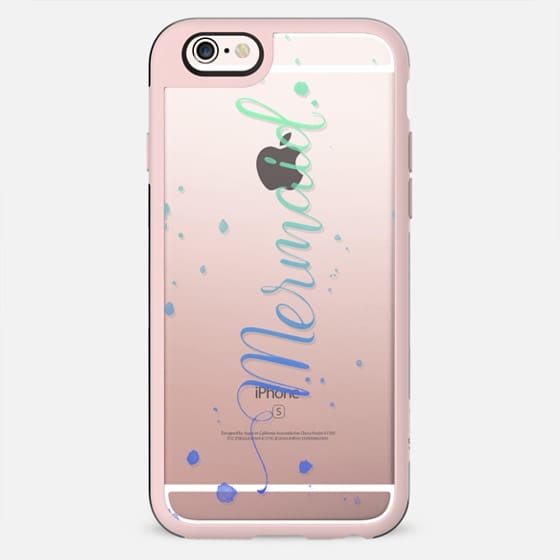 Ombre Watercolor Mermaid - Transparent - New Standard Case