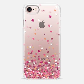 iPhone 7 Case Confetti Hearts