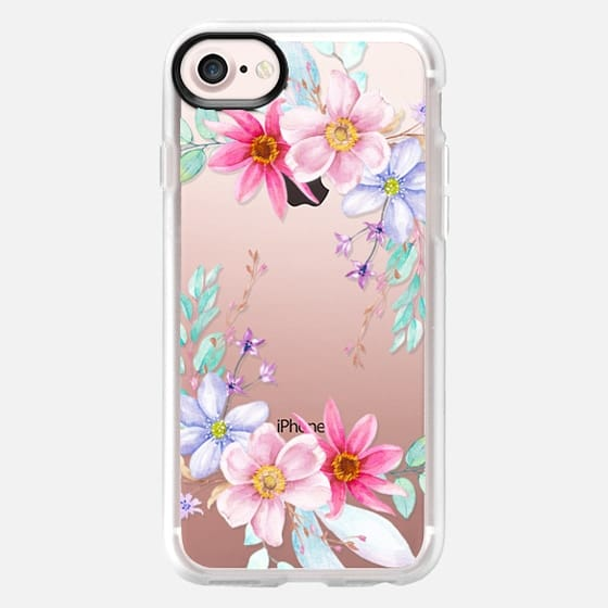 Pastel Floral Watercolor Flower Crown - Classic Grip Case