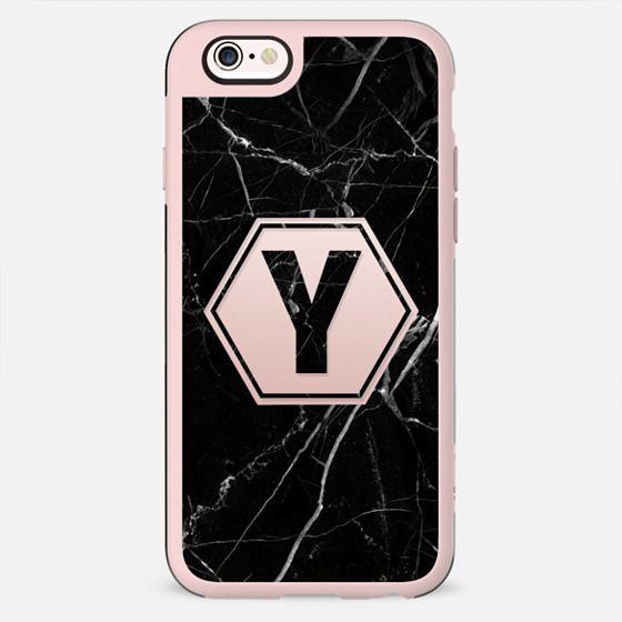 Black Marble - Monogram Y - New Standard Case