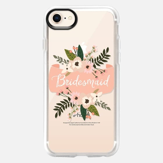 Bridesmaid Floral Banner - Snap Case