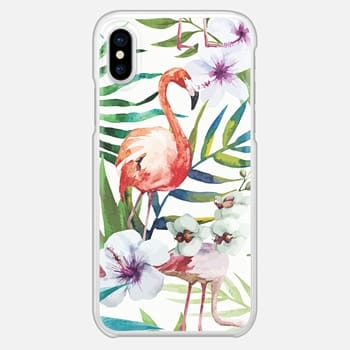 iPhone X Case Tropical Flamingo