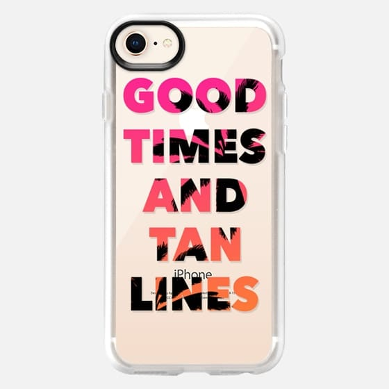 Good Times and Tan Lines - Pink Orange Ombre Palm Trees - Snap Case