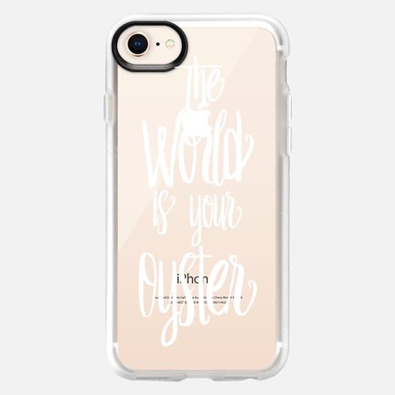 The World is your Oyster - White - Snap Case