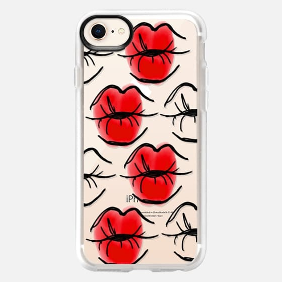 Kissing Lips - Red Lipstick - Red Lips - Watercolor - Snap Case