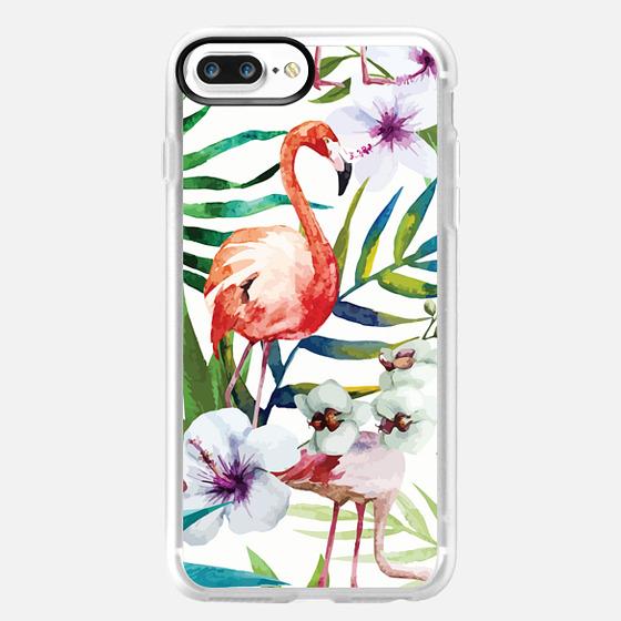 iPhone 7 Plus Case - Tropical Flamingo