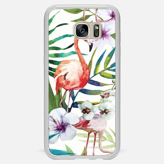 Galaxy S7 Edge Hülle - Tropical Flamingo
