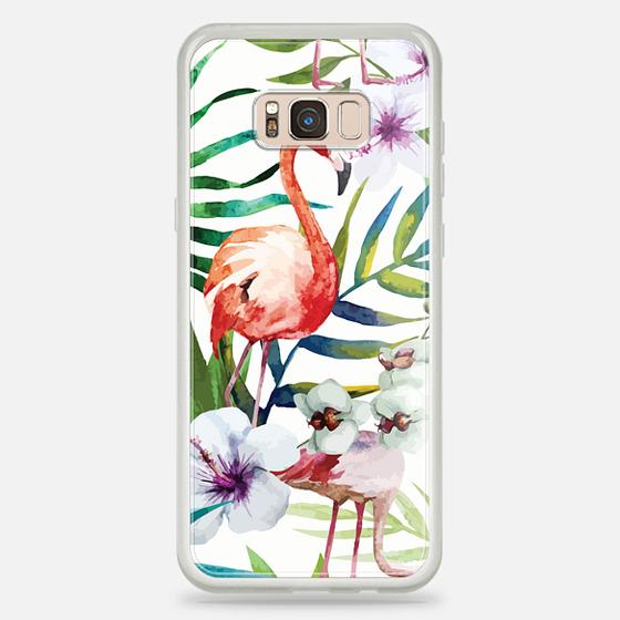 Galaxy S8+ Case - Tropical Flamingo