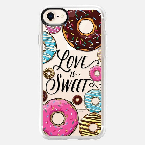 Love is Sweet - Donuts - Snap Case