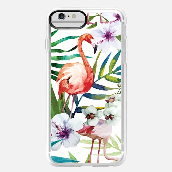 iPhone 6 Plus Capa - Tropical Flamingo
