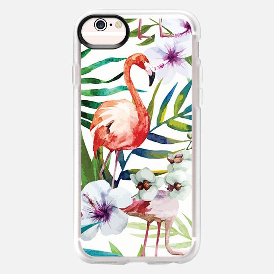 iPhone 6s Case - Tropical Flamingo