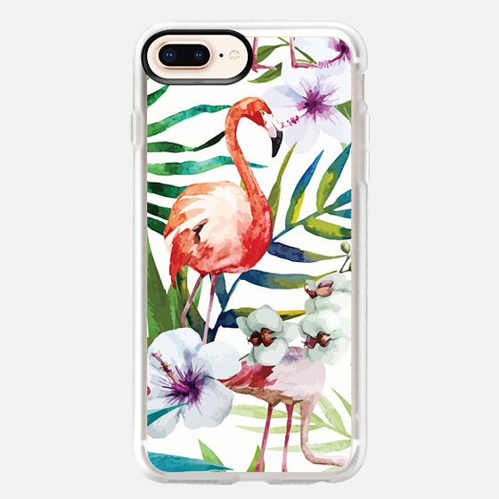 iPhone 8 Plus Case - Tropical Flamingo