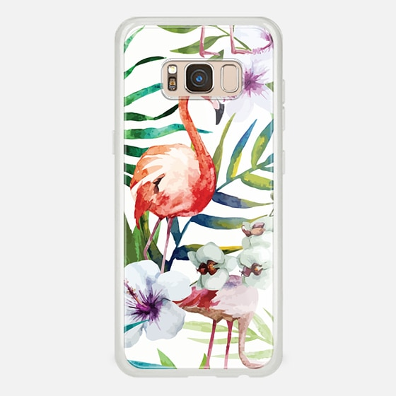 Galaxy S8 Hülle - Tropical Flamingo