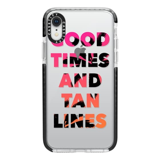 Good Times and Tan Lines - Pink Orange Ombre Palm Trees