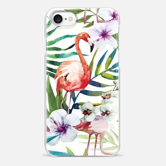 iPhone 7 保護殼 - Tropical Flamingo