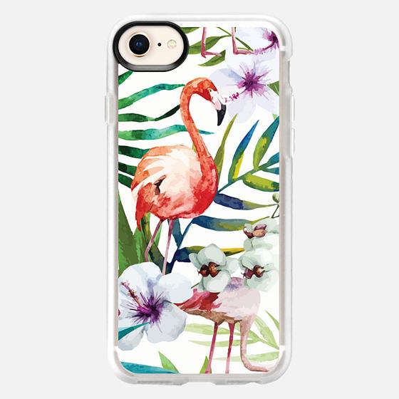 iPhone 8 保護殼 - Tropical Flamingo