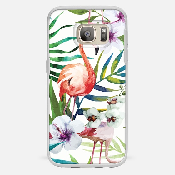 Galaxy S7 ケース - Tropical Flamingo