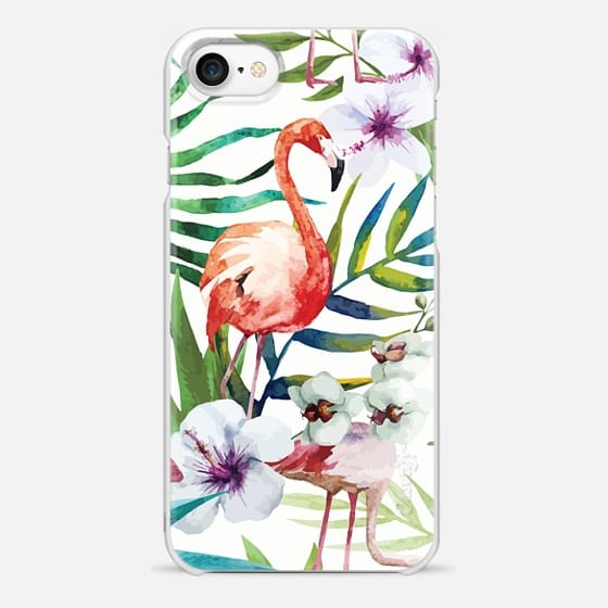iPhone 7 Case - Tropical Flamingo