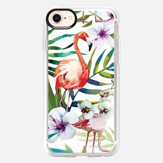 iPhone 8 Case - Tropical Flamingo