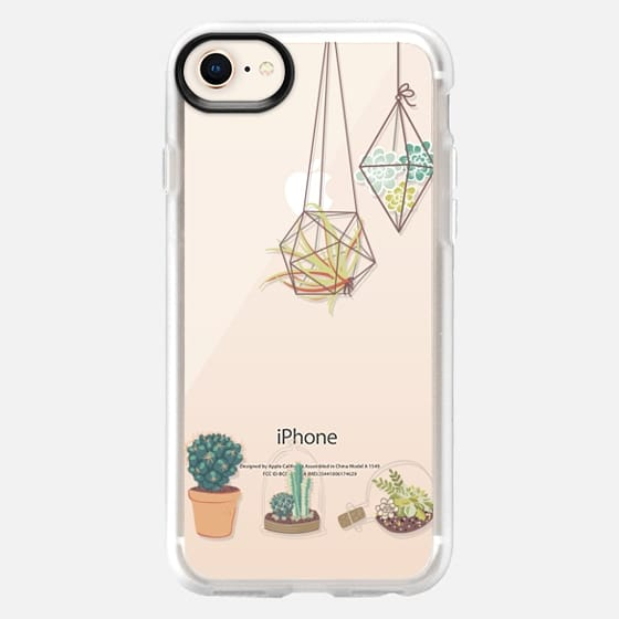 Cactus and Succulent Terrariums - Transparent - Snap Case