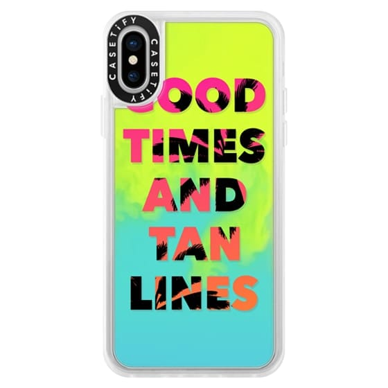 iPhone X Cases - Good Times and Tan Lines - Pink Orange Ombre Palm Trees