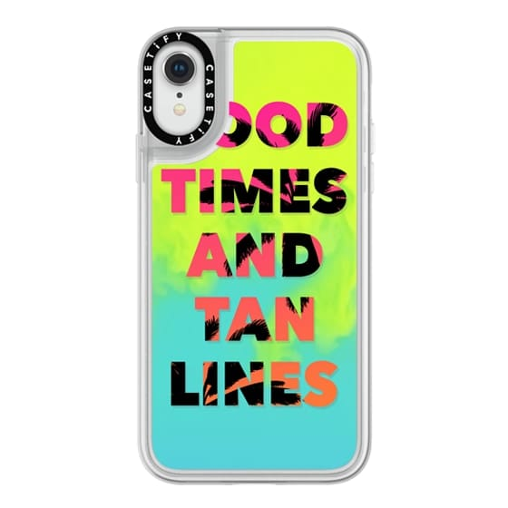 iPhone XR Cases - Good Times and Tan Lines - Pink Orange Ombre Palm Trees