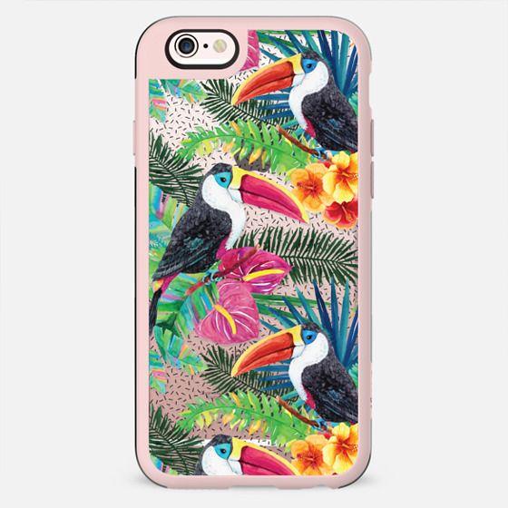 Watercolor Tropical Floral Toucans - New Standard Case