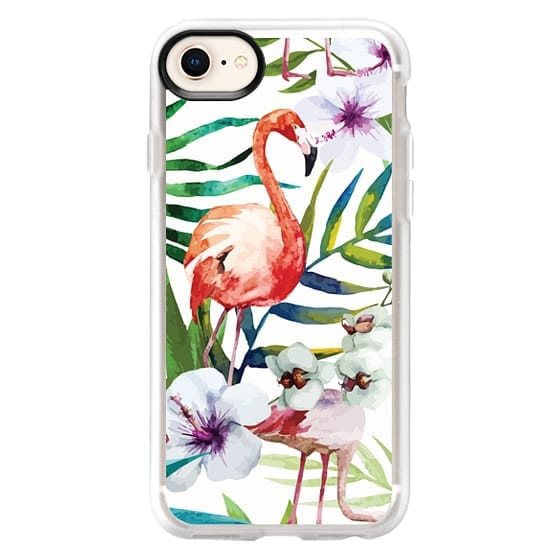 iPhone 8 เคส - Tropical Flamingo