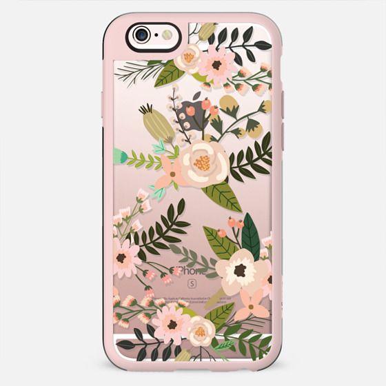 Peachy Pink Florals - Trasparent - New Standard Case