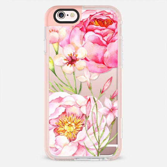 Pretty Pink Peonies - Watercolor Floral