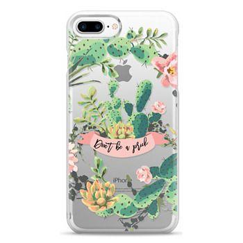 Snap iPhone 7 Plus Case - Cactus Garden - Don't Be A Prick