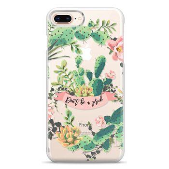 Snap iPhone 8 Plus Case - Cactus Garden - Don't Be A Prick
