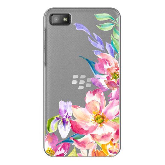 Blackberry Z10 Cases - Bright Watercolor Floral Summer Garden
