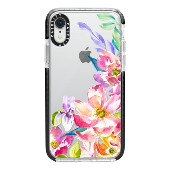 iPhone XR Cases - Bright Watercolor Floral Summer Garden