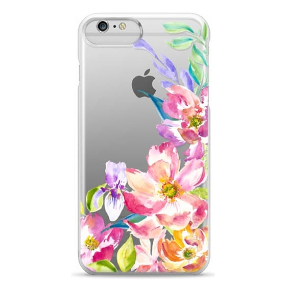 iPhone 6 Plus Cases - Bright Watercolor Floral Summer Garden