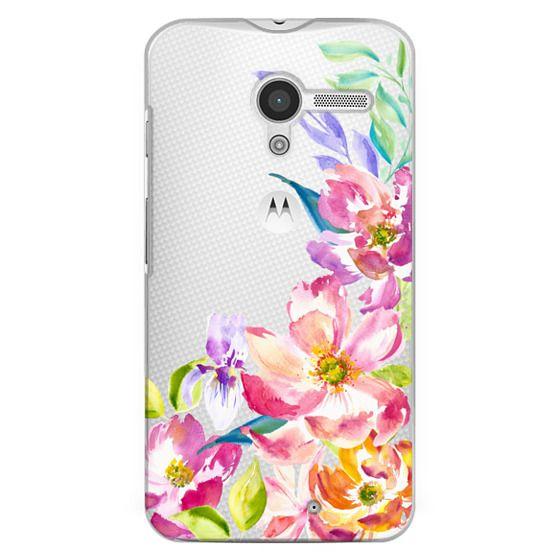 Moto X Cases - Bright Watercolor Floral Summer Garden