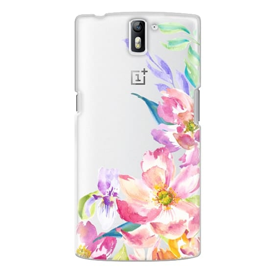 One Plus One Cases - Bright Watercolor Floral Summer Garden