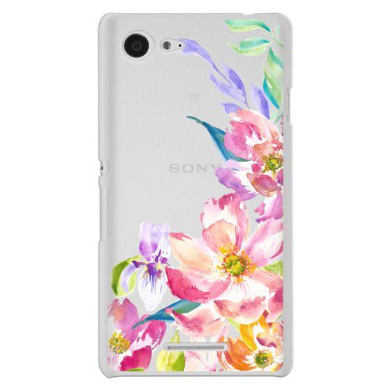 Sony E3 Cases - Bright Watercolor Floral Summer Garden
